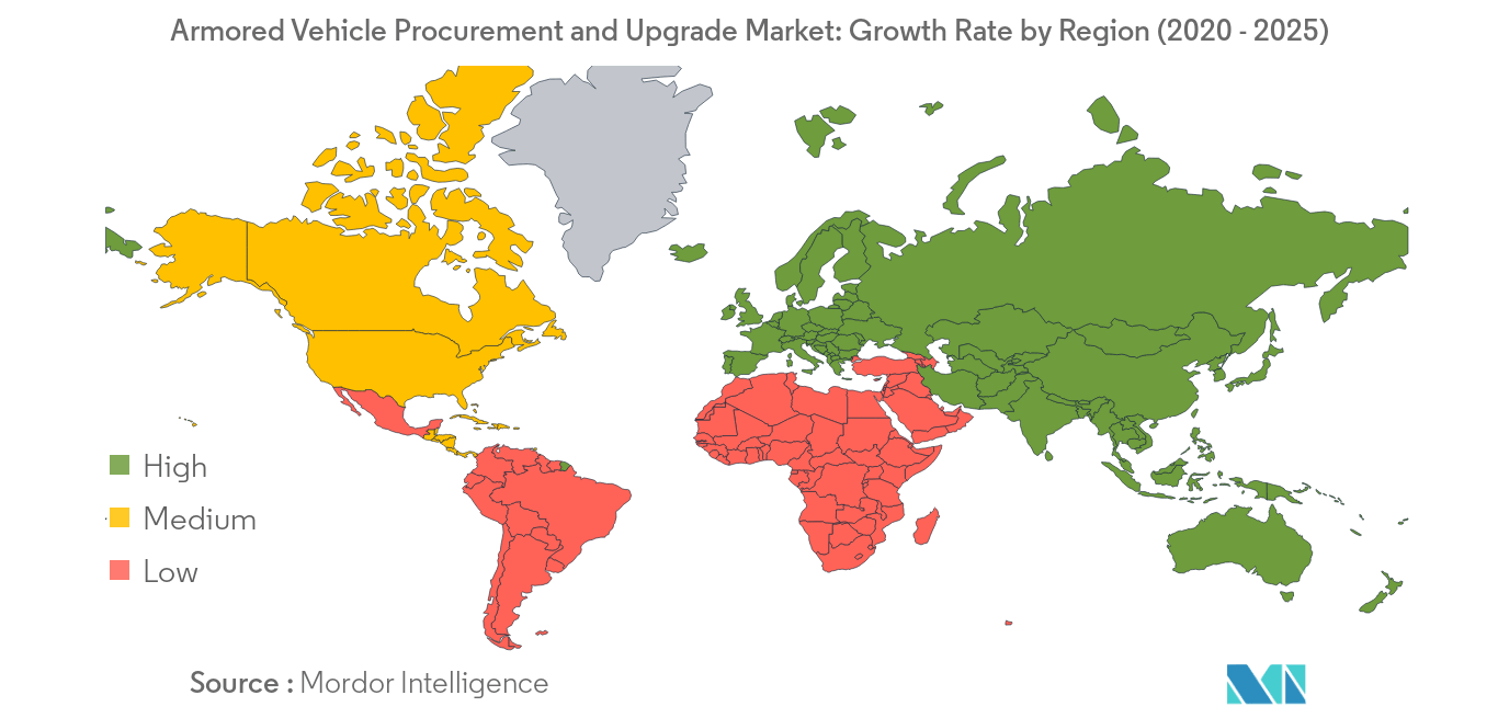 armored vehicle procurement and upgrade market_geography