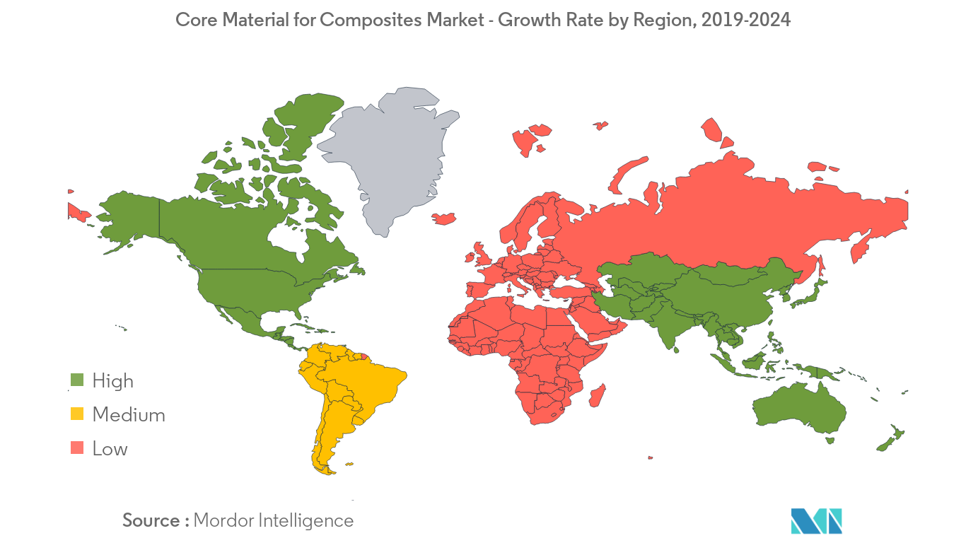 Core Material for Composites Market Regional Trends