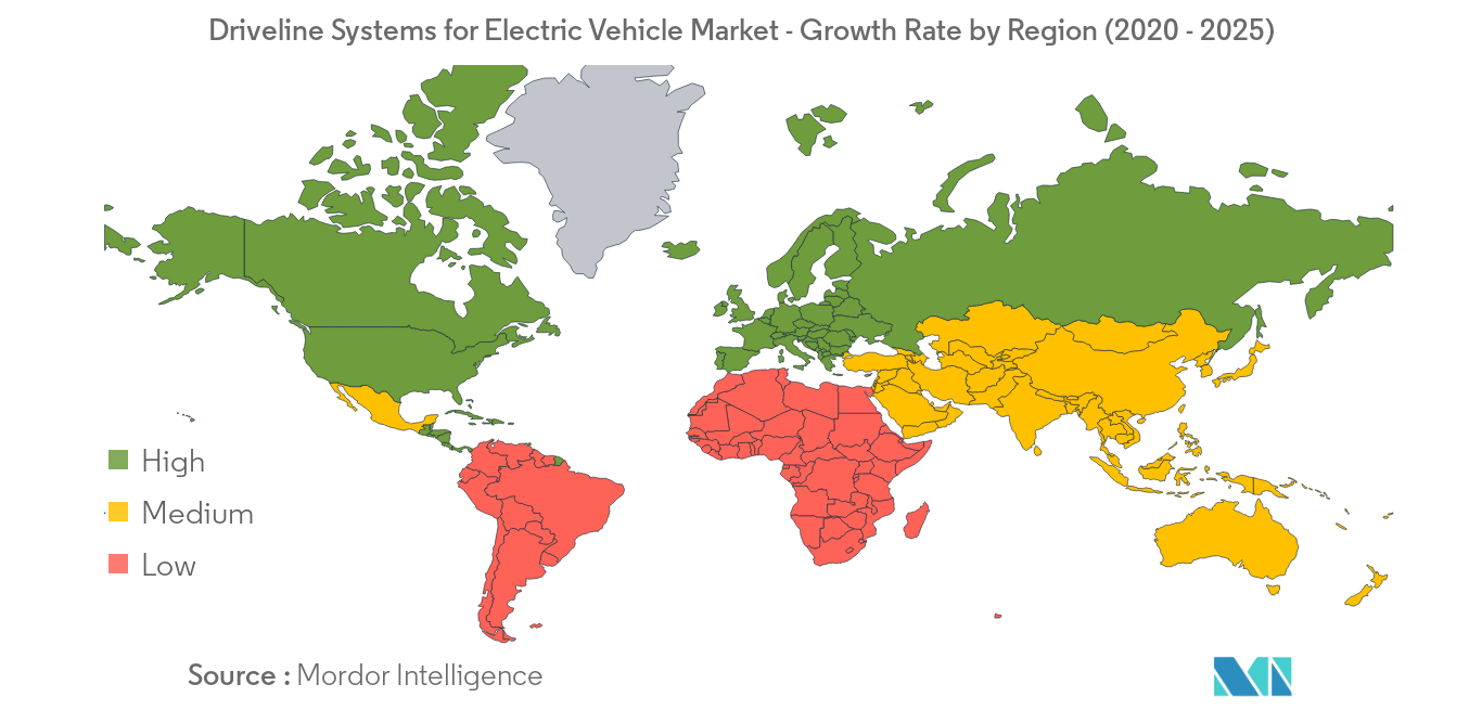 Driveline Systems for Electric Vehicle_geography