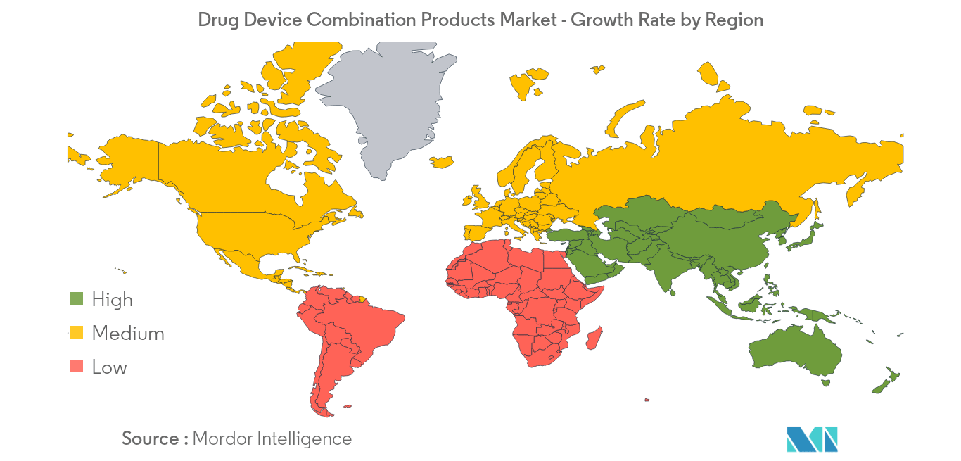 Drug Device Combination Products Market -  Growth Rate by Region - Image