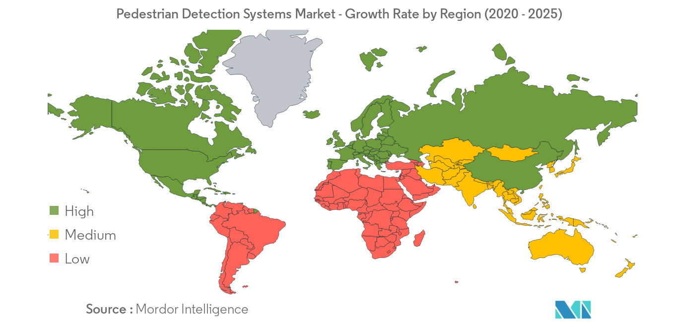 Pedestrian Detection Systems Market_Geography
