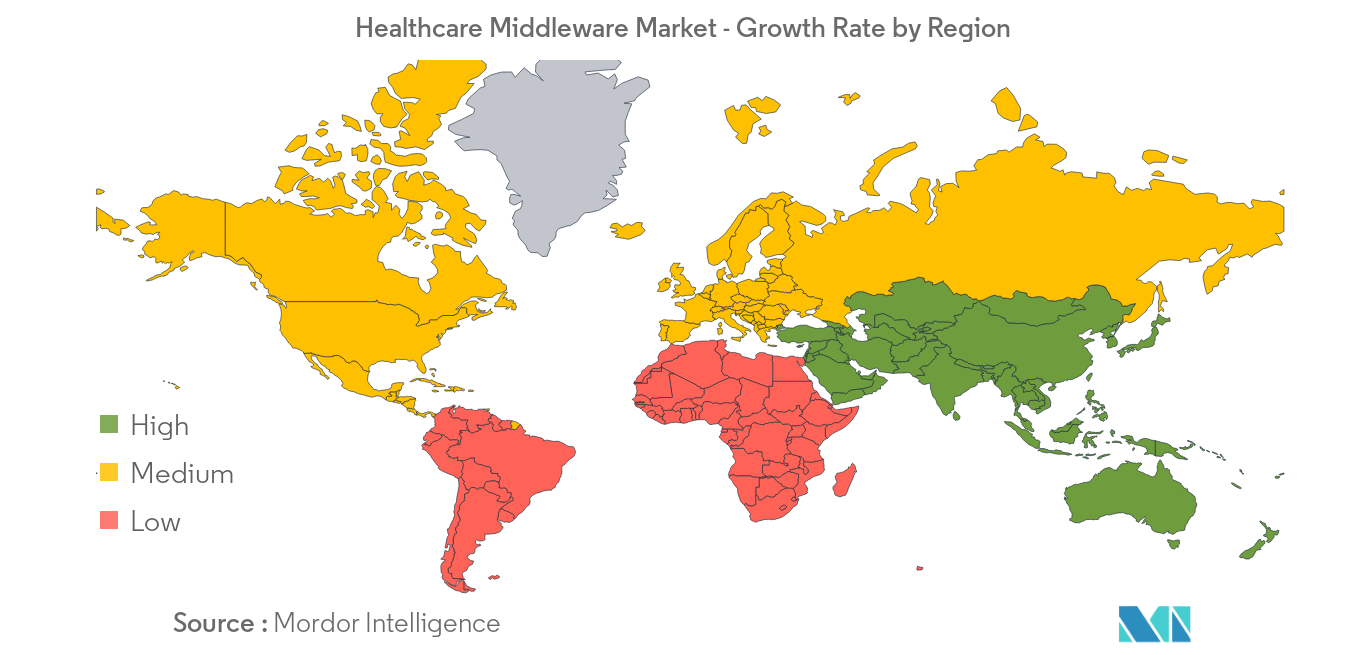 Healthcare Middleware Market -  Growth Rate by Region - Image