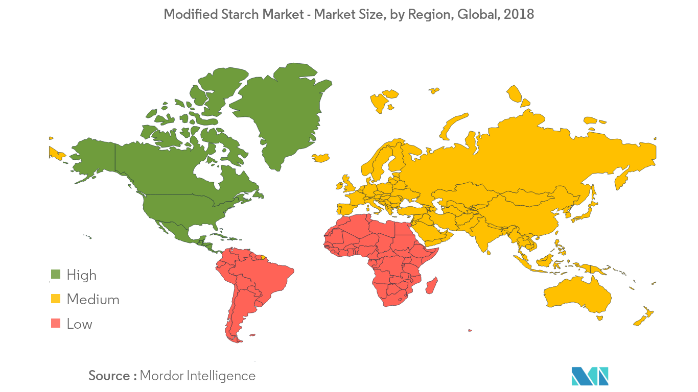 Modified Starch Market Growth by Region